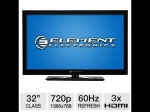 32' element LCD flat screen tv
