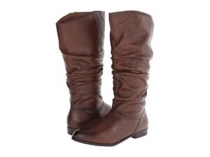 Aldo brown flat high boots