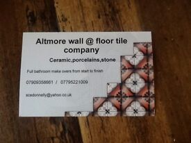 Tiler available for all your tiling needs 20 years in the trade keen rates clean & tidy