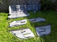 Grey leather BMW 5 series E39 touring rear seats plus door cards. No rips or tears £60 Redcar Ings. for sale  Redcar, North Yorkshire