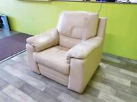 Cream Recliner Armchair - Can Deliver For £19