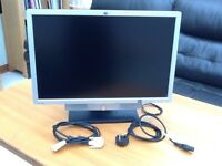 24 inch LCD monitor with desk stand