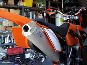 ktm 2007-250 and 200 xcw stock silencer