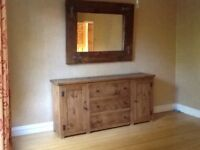 Beautiful large sideboard/dresser and Mirror
