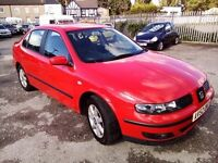 SEAT TOLEDO 1.8 20V NON TURBO PETROL 2003 MOT TILL MARCH 2017 GOOD CONDITION P/X WELCOME