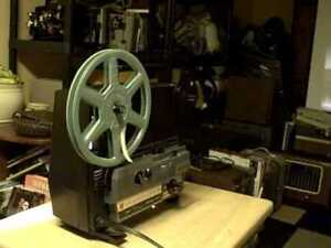 Anconvision Gaf 488 dual 8mmprojector, works, needs some belts