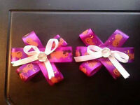 HALLOWEEN BOWS HAND MADE $7.00 EACH FOR A SET OF TWO