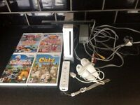 nintendo wii console with 4 games £10