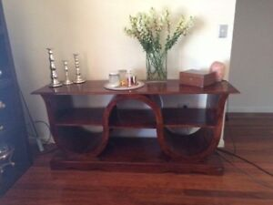 Solid wood entertainment unit Ashmore Gold Coast City Preview