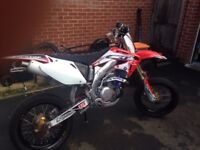 2004 Honda crf450r road legal supermoto