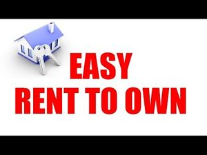 Rent to Own houses when you can't get a mortgage.