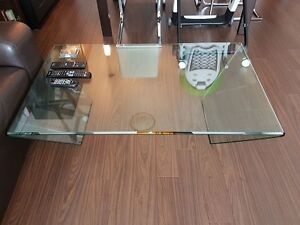 Clear glass coffee table for sale!