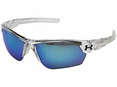 Under Armour UA Wind Up Youth Baseball Sunglasses Color: Crystal/Blue (Under Armour Youth Baseball Sunglasses)