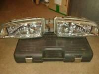 Subaru classic crystal headlights and side lights