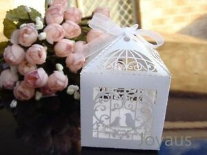 White Birdcage Bomboniere Favour Boxes for Wedding Party Guest Gift Bassendean Bassendean Area Preview