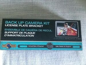 License plate rear view camera kit