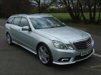 MERCEDES E CLASS E350 3.0 CDI BLUE EFFIC IRIDIUM SILVER 2010 60 REG 5 DOOR ES
