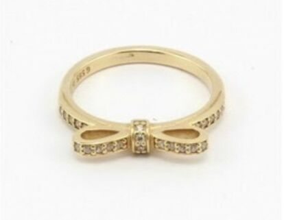 Pandora 14k yellow gold Open Opportunity stackable ring