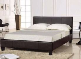 FLAT 30% OFFSingle/Double/King size FAUX LEATHER BED FRAME*=*BLACK/BROWN COLOR▶️LIMITED TIME OFFER◀️