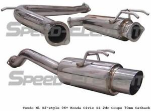 Catback exhaust 70mm studo Bolt on Civic si  coupe 2006 à 2012