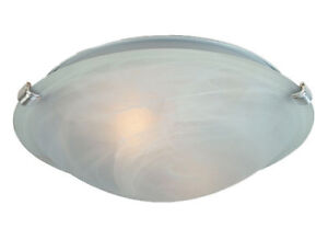 """Uberhaus 12"""" Ceiling Flush Alabaster with Nickel Finishes *NEW"""