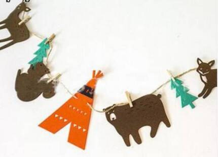 Felt Animal Garland Bunting Banner For Child Room Decoration Baby