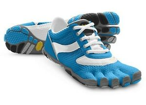 NWT! Womens FiveFinger Vibram Speed Running Shoes Minimalist Blue & White Sz 40