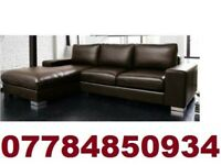 SOFA BOXING DAY ITALIAN NERO LEATHER CORNER SOFA BLACK OR BROWN