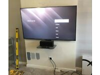 TV wall mounting. TV installer. TV brackets. TV installation.