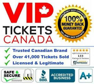 Upper, Lower, Floor Tickets - Cheaper Seats Than Other Ticket Sites, And We Are Canadian Owned!