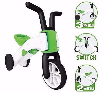 Chillafish Bunzi 2 in 1 Gradual Balance Bike in Lime Green and White
