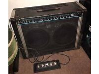 Peavey stereo chorus 112 amplifier vintage and rare made in USA with original foot switch 👀!!