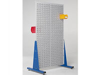 Double Sided Steel Louvre Panel Rack 2x1m - Warehouse Racking Linbins Storage Parts Boxes Bin