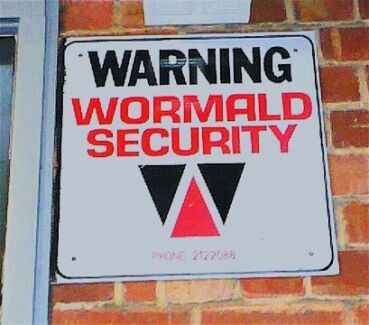 Wanted: Wormald security sign