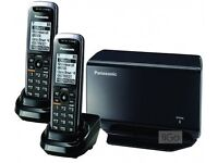 Panasonic Cordless Handsets Model KX-TPA50 & Base Stations (2 handsets, 1 base station)