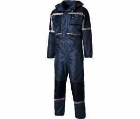 DICKIES large padded waterproof boilersuit £30