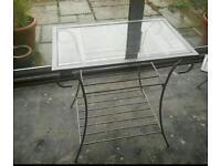 All matching swirl pattern glass top furniture set
