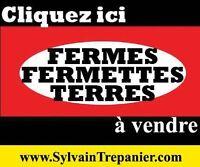 PLUSIEURS TERRES À VENDRE,partout au Québec terre agricole,bois