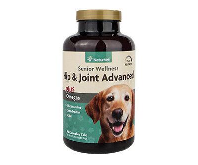 NaturVet SENIOR HIP JOINT TIME RELEASE Glucosamine MSM Formula Dogs 90 Tablets