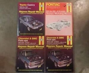 4 different haynes car/truck manuals