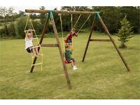 Brand new little tykes garden swing set with ladder - rrrp £320
