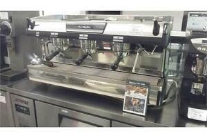 Nuova Simonelli Espresso Machine - Aurelia II- T3 3 Group - Installed New 2015 - plus 2 grinders