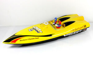 RC RTR Electric Twin Engines Fast Racing Rush Rocket Boat NEW