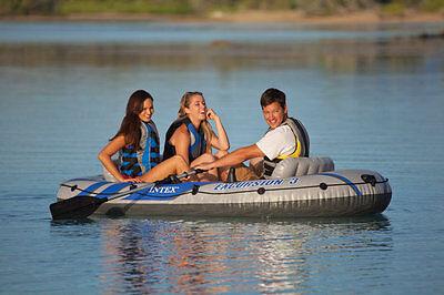Intex  Excursion  Set 3 PERSONEN  Schlauchboot 68319. Grau/Blau