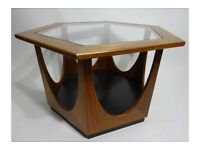Wanted - G Plan 1970s hexagonal coffee table