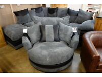 Dino corner sofa and matching swivel chair brand new!