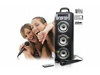 Pure Acoustics Wireless Bluetooth Portable Multimedia System Speaker With Disco Lights ISP