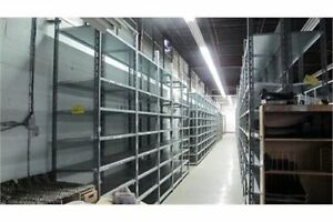 """Industrial nut and bolt shelving 48"""" long x 18"""" deep up to 10'"""