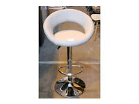 John Lewis OLIVER Grey leather bar stool
