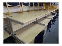1600mm x 800mm Straight Maple Desk